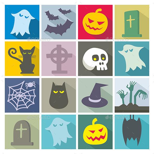 GraphicRiver Halloween Icons 9870087