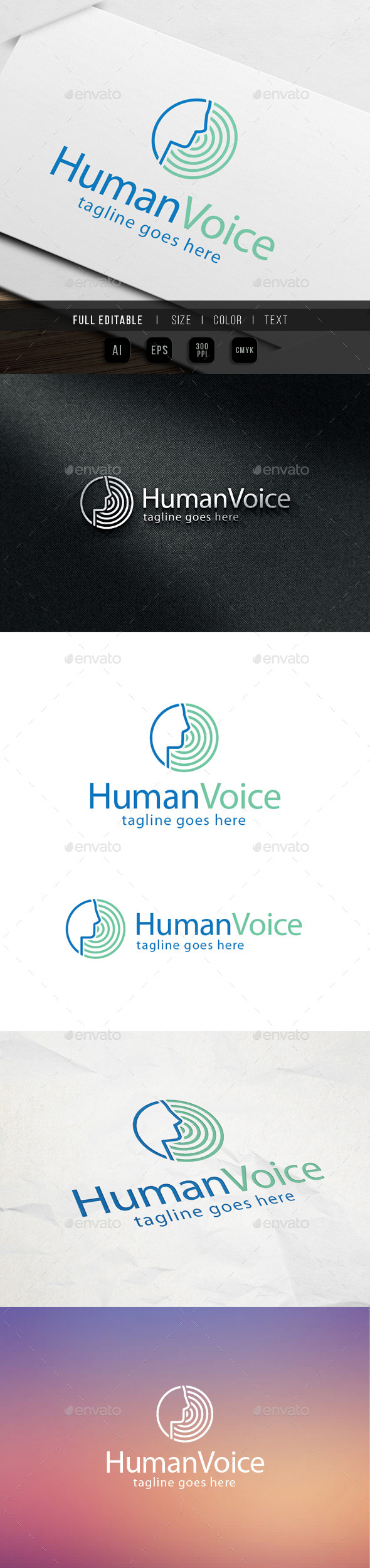 GraphicRiver Human Voice Logo 9870097
