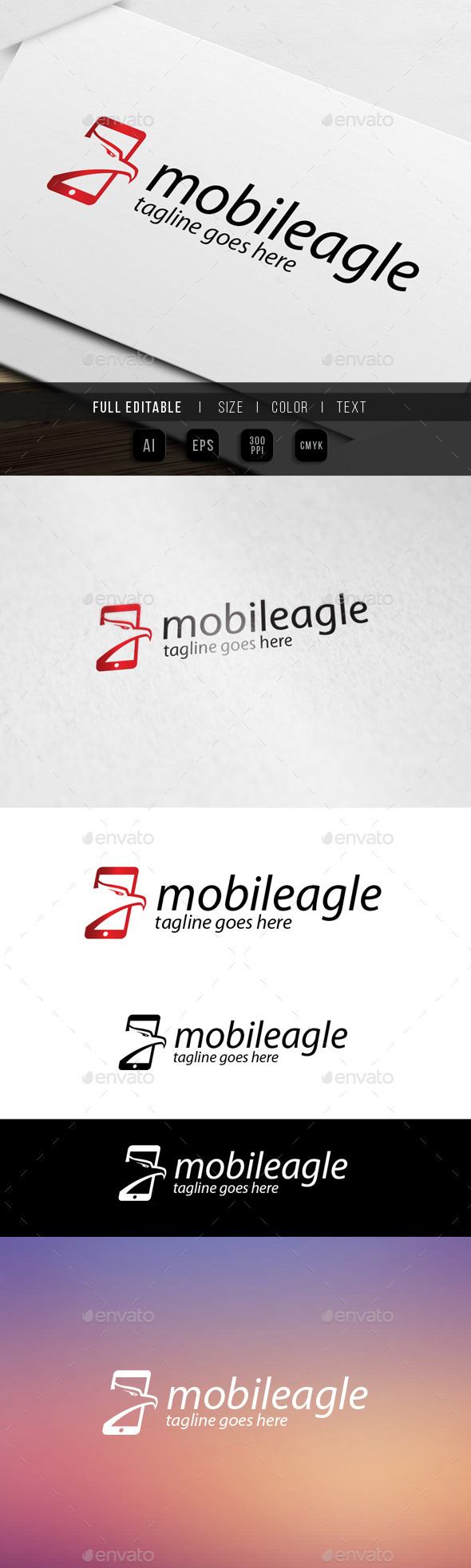 GraphicRiver mobile eagle logo 9870241