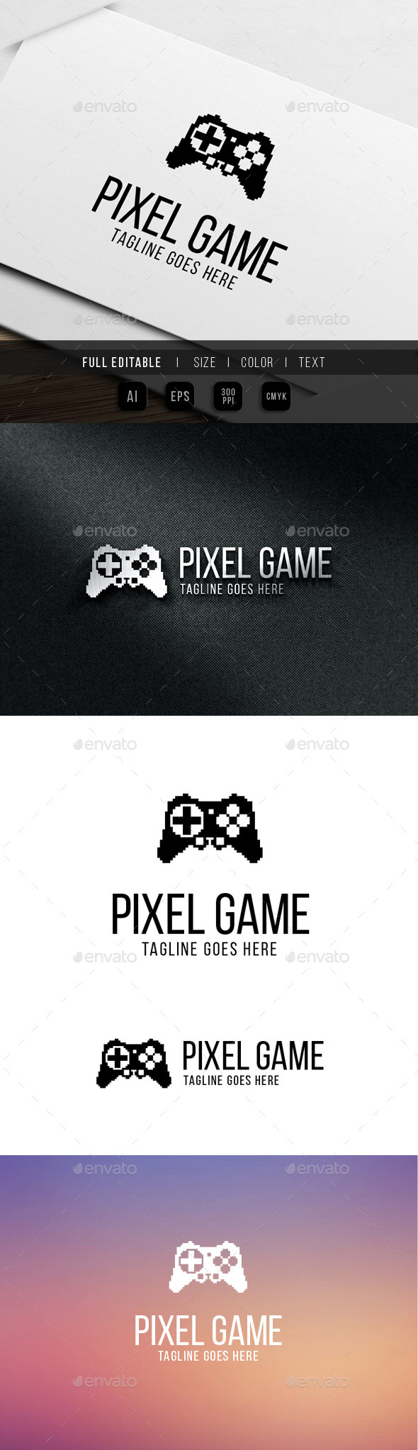 GraphicRiver pixel game logo 9870247