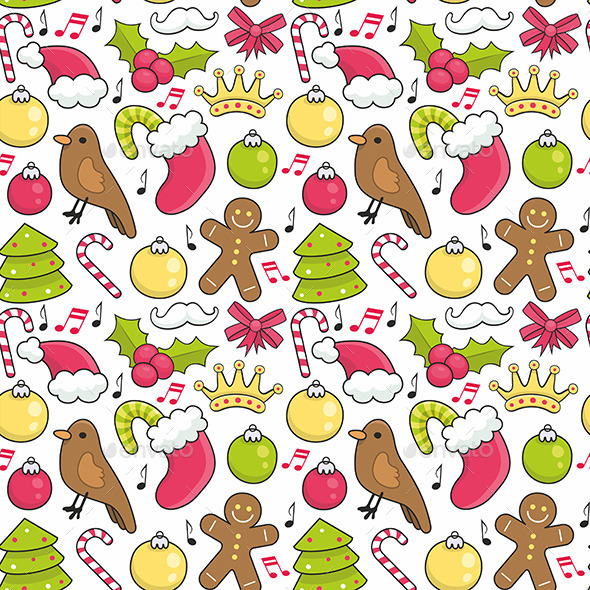GraphicRiver Christmas Pattern 9870267