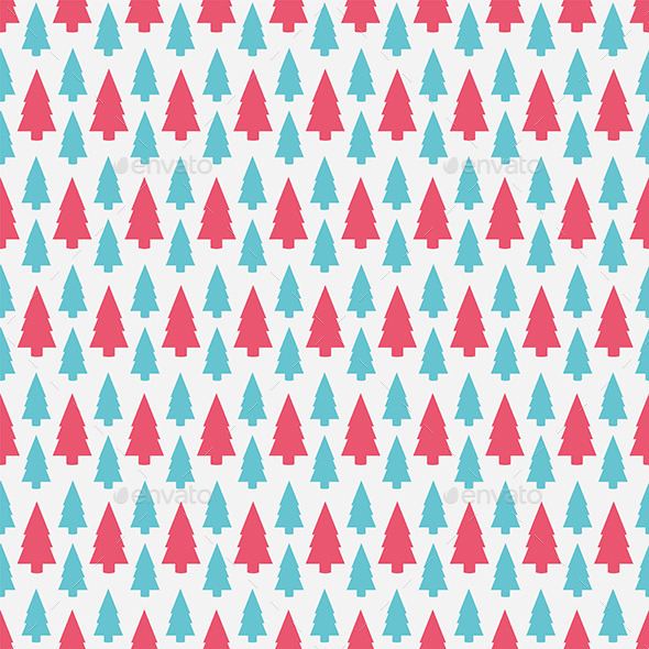 GraphicRiver Christmas Tree Pattern 9870275