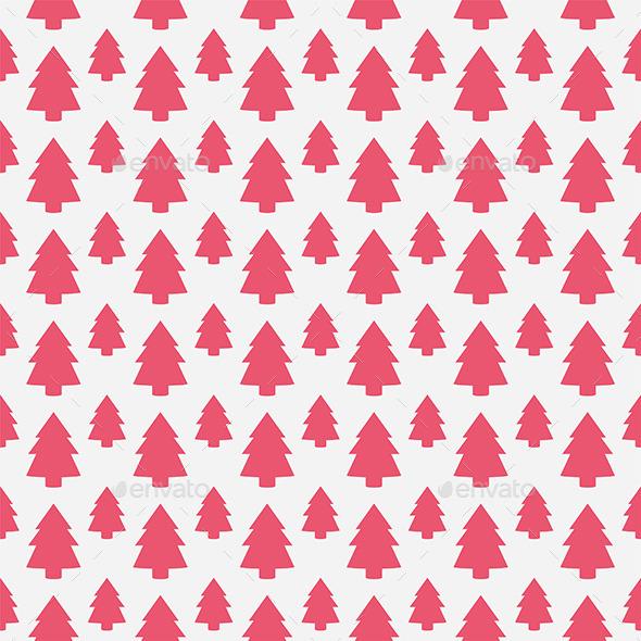 GraphicRiver Christmas Tree Pattern 9870278