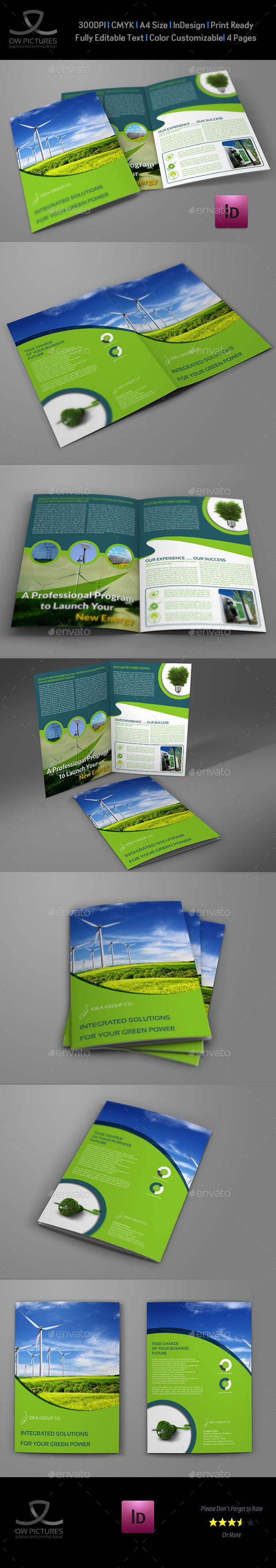 GraphicRiver Green Energy Company Brochure Bi-Fold Template 9870314