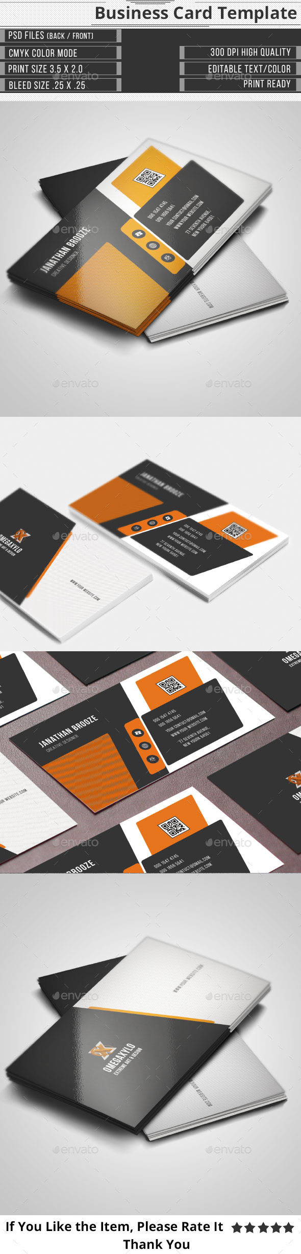GraphicRiver Elegant Corporate Business Card 9870317