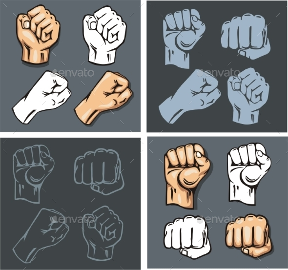 GraphicRiver Fist Vector Set 9870340