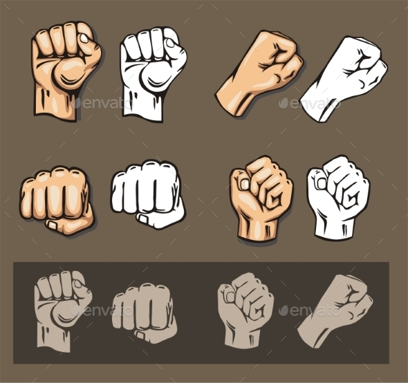 GraphicRiver Fists Vector Set 9870342