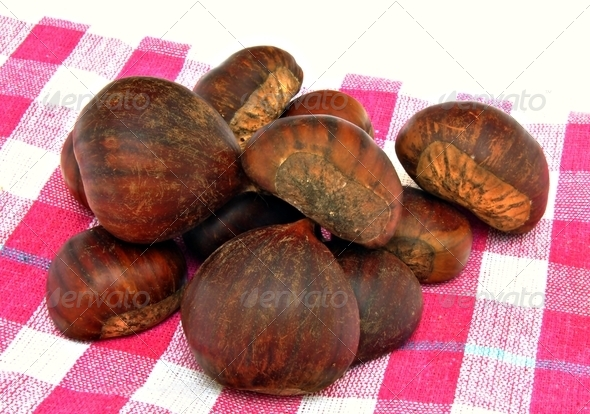 Several chestnuts - Stock Photo - Images