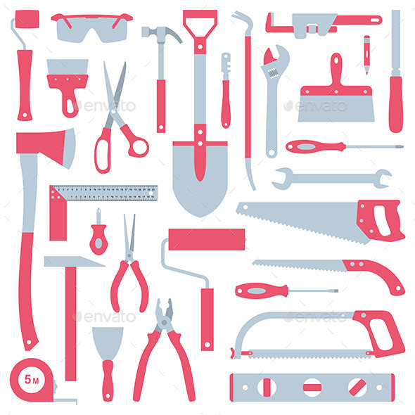 GraphicRiver Tools Set 9870388