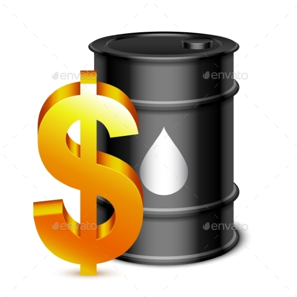 GraphicRiver Oil Barrel and Dollar Sign 9870401