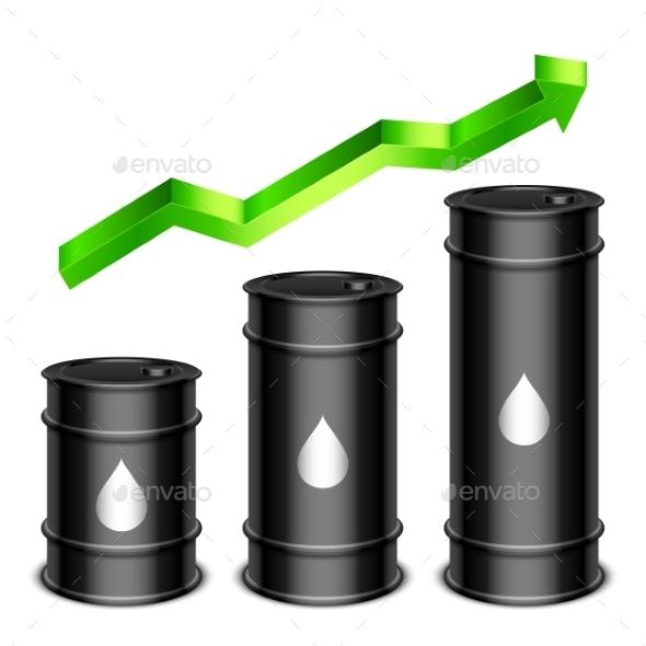 GraphicRiver Rising Oil Price Concept 9870403