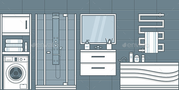 GraphicRiver Bathroom 9870406