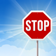 Stop Roadsign on Blue Sky Background - GraphicRiver Item for Sale