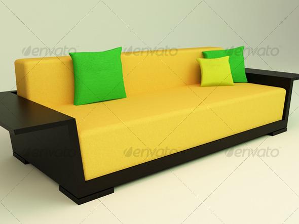 3DOcean 3D Sofa 125364