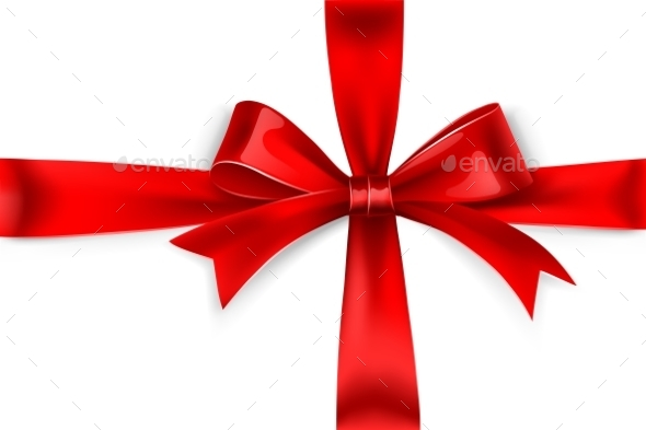 GraphicRiver Red Bow 9870543