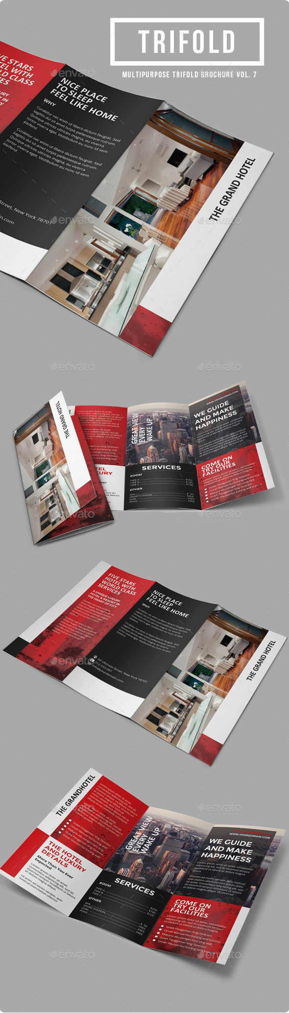 GraphicRiver Sun Hotel Multipurpose Trifold Brochure Vol 7 9870612