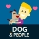 People and Dog Clipart - GraphicRiver Item for Sale