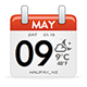 Calender Icon - Weather feed, Date & Time Display - ActiveDen Item for Sale