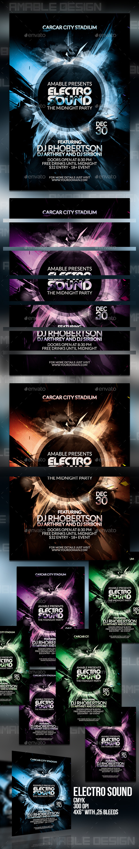 GraphicRiver Electro Sound Flyer 9870740