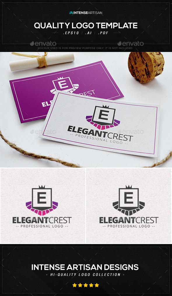 GraphicRiver Elegant Crest Logo Template 9870881