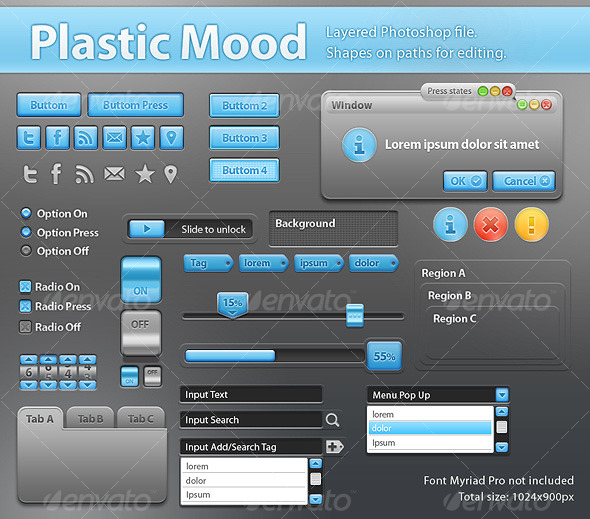 Plastic Mood Components for App Interface