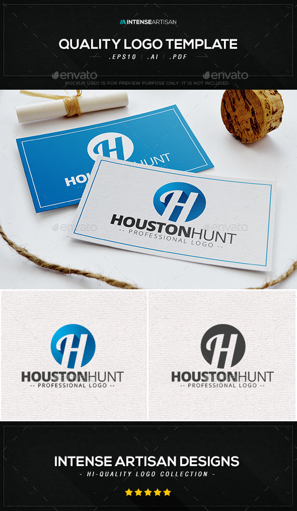 GraphicRiver Houston Hunt Logo Template 9871170