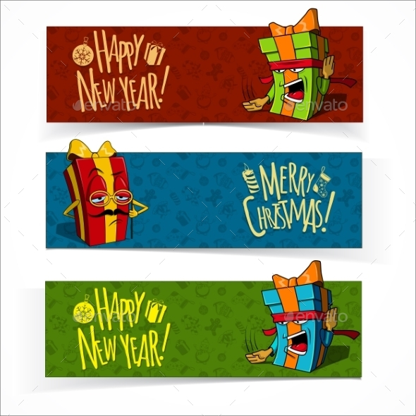 GraphicRiver Christmas and New Year Banners 9871253