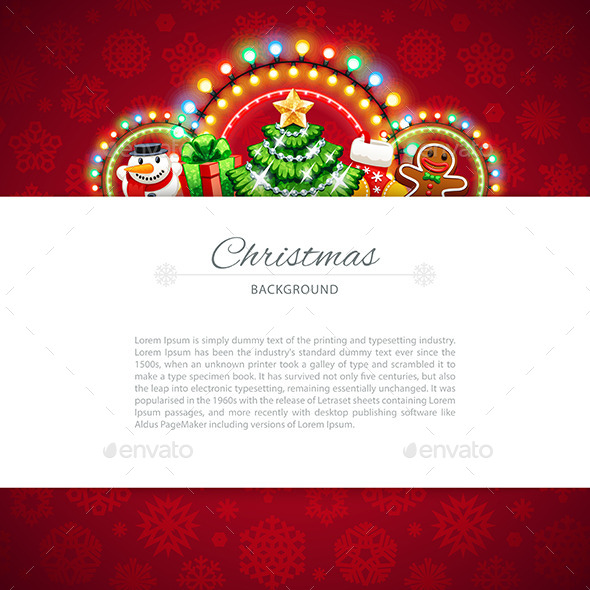 GraphicRiver Red Christmas Background with Copy Space 9853852