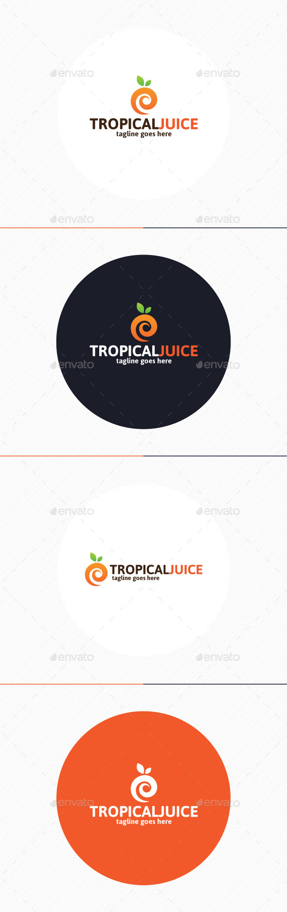 GraphicRiver Tropical Juice Logo 9871474
