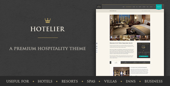 ThemeForest Hotelier Stylish & Classy Hospitality Template 9830552