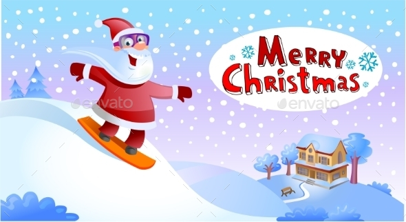 GraphicRiver Funky Santa Claus 9871589