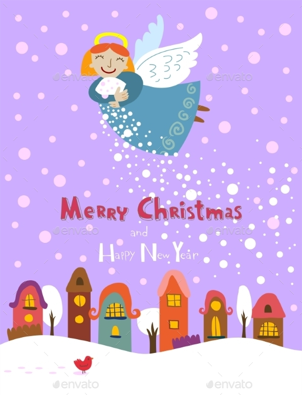 GraphicRiver Christmas Angel 9871596