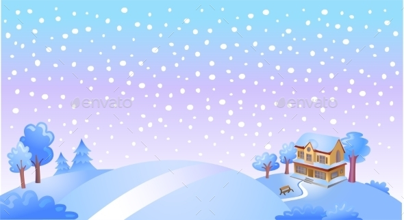 GraphicRiver Winter Landscape 9871837