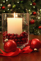 Christmas candle buring brightly - PhotoDune Item for Sale