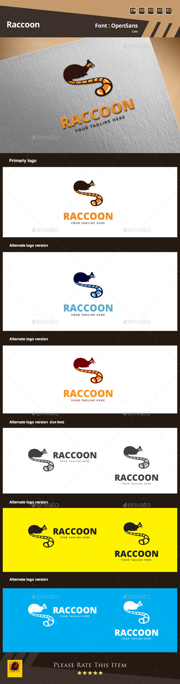 Raccoon Logo Template
