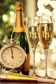 Glasses of champagne with festive background - PhotoDune Item for Sale