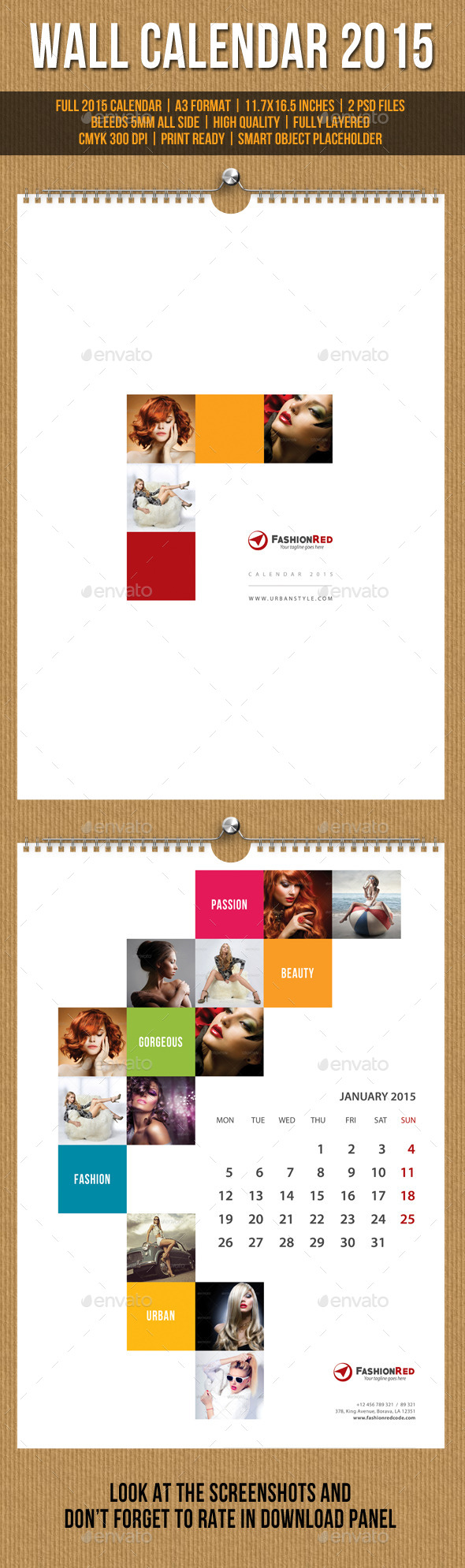 GraphicRiver Wall Calendar A3 2015 V10 9871939