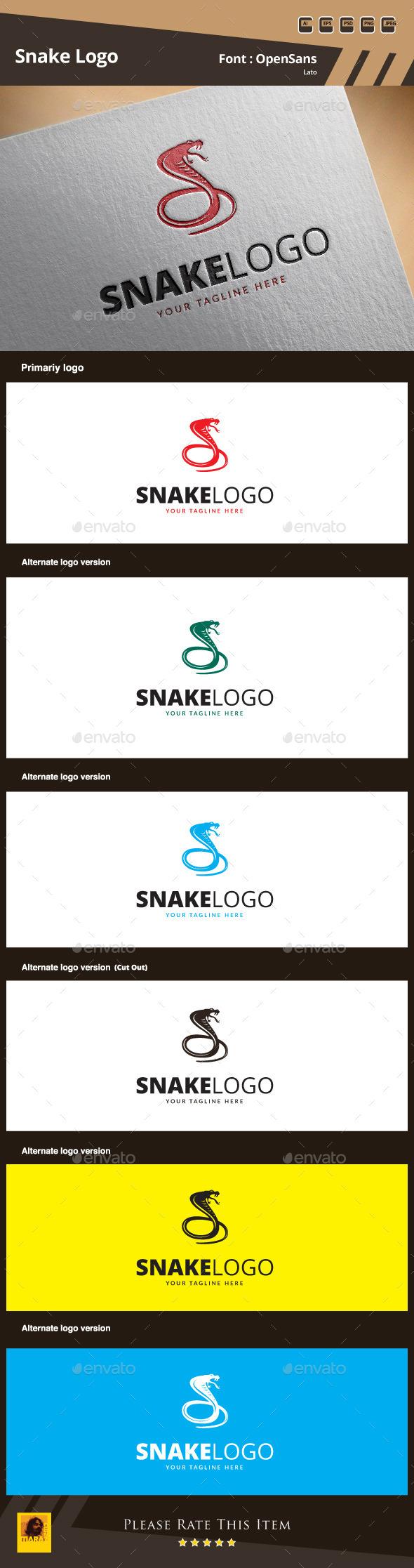 GraphicRiver Snake Logo Template 9871943