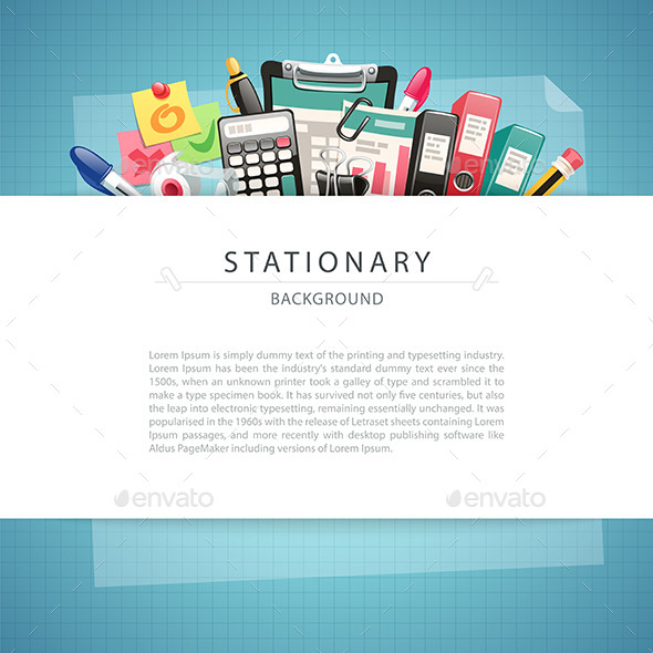 GraphicRiver Blue Stationary Background with Copy Space 9855759