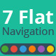 7 Flat Navigation Bars - GraphicRiver Item for Sale