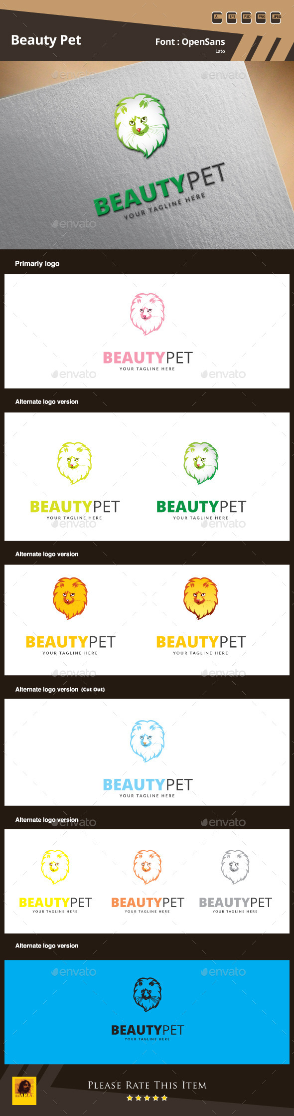 GraphicRiver Beauty Pet Logo Template 9872337