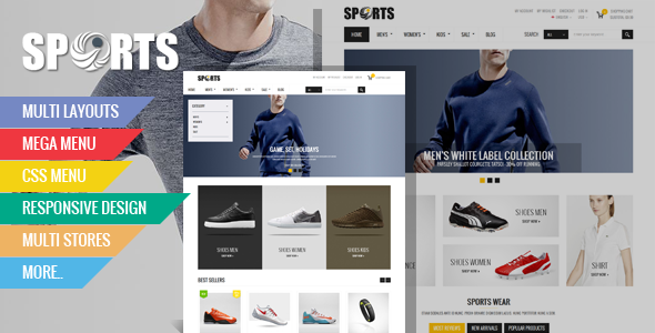 ThemeForest Ovansport Responsive Multipurpose Magento theme 9817290