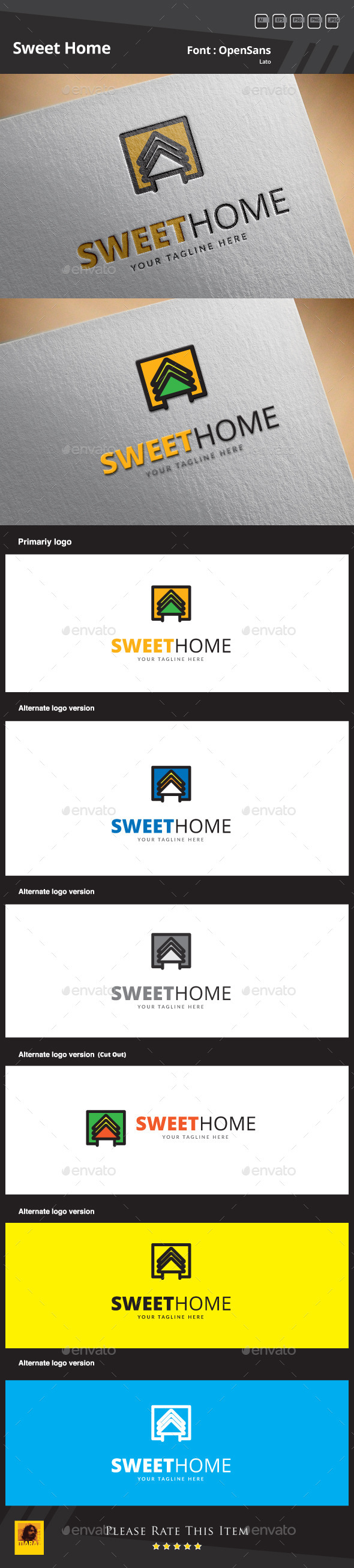 Sweet Home Logo Template