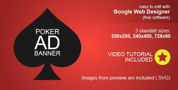 CodeCanyon HTML5 Poker Ad Banner 9872475