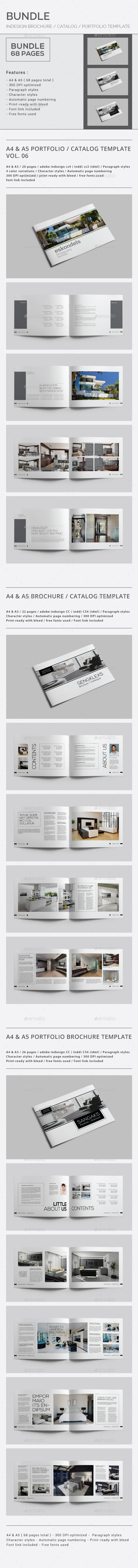 GraphicRiver Indesign Brochure Catalog Portfolio Bundle 9872514