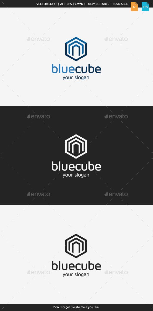 GraphicRiver Blue Cube Logo 9872602