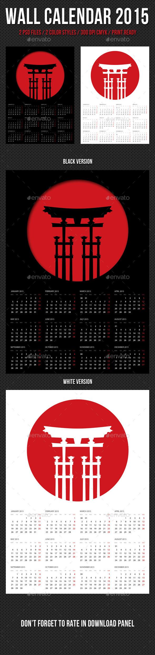 GraphicRiver Wall Calendar A3 2015 V11 9872603
