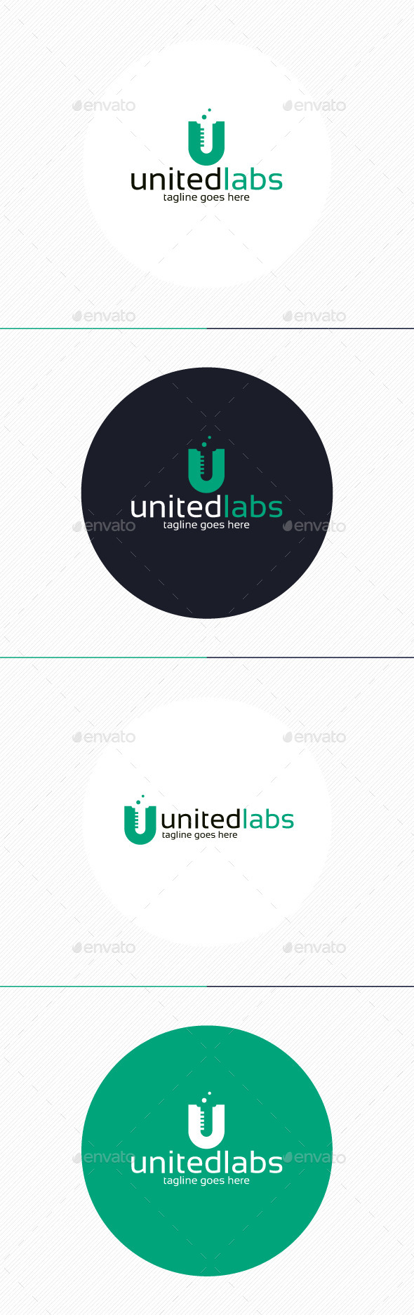 GraphicRiver United Labs Logo Letter U 9872645