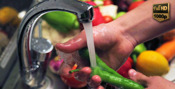 Washing Vegetable