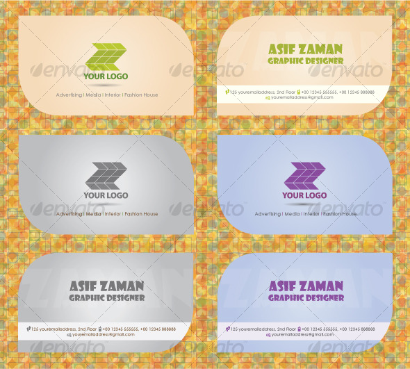 Clean Visiting Card - Creative Business Cards